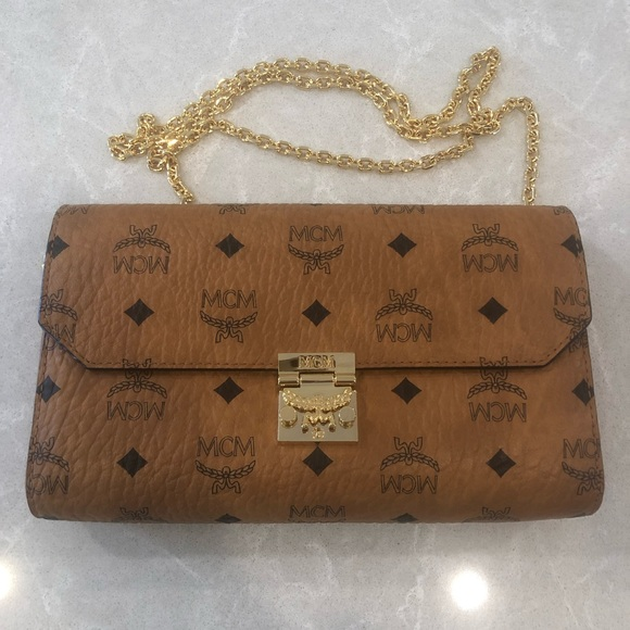 9fb4d3be68dac8 MCM Bags | Pursemillie Visetos Canvas Wallet On A Chain | Poshmark